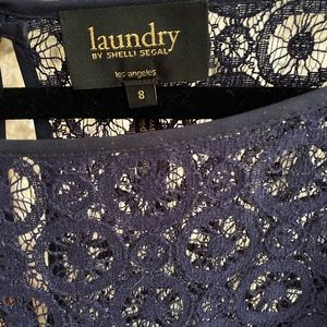 Navy lace dress by Laundry